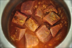 kerala beef cutelet, stew meat