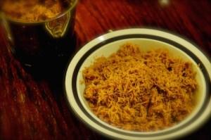 kerala beef cutlet. shred beef into floss