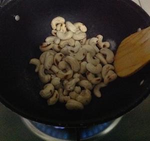 lightly toast the raw cashews