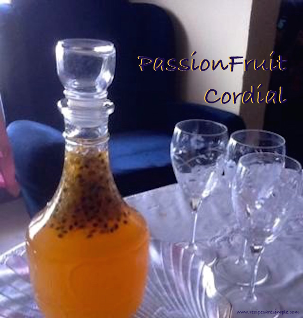 Passion Fruit Cordial Syrup