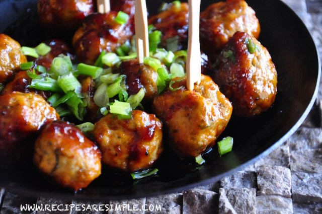 HOT AND SWEET THAI MEATBALLS