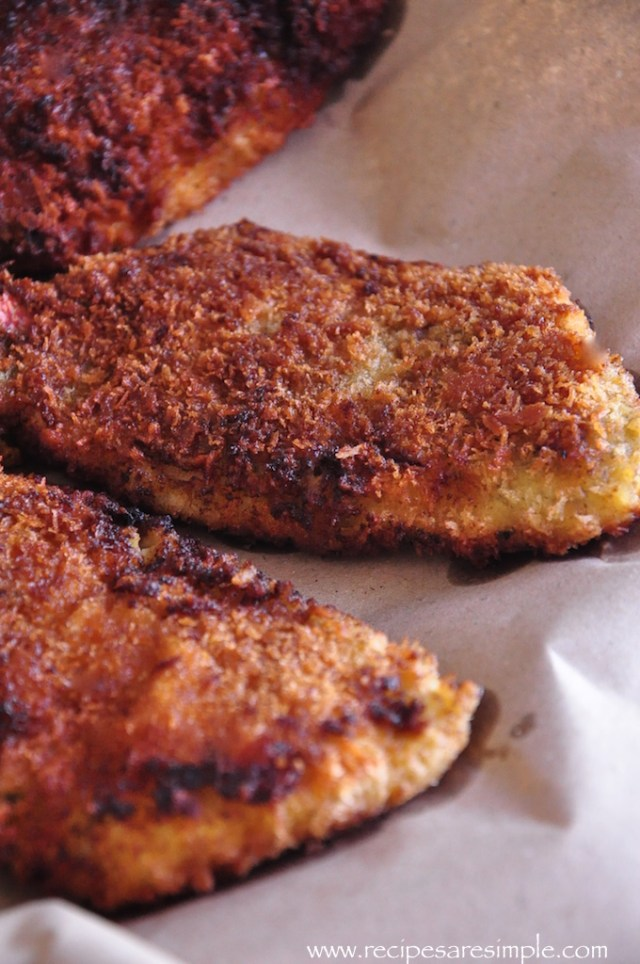 crumbed fish and chips recipe