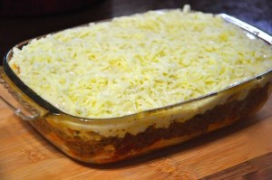 greek pastitsio - laste layer more cheese