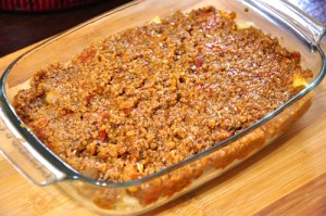 greek pastitsio - layer 2 meat sauce