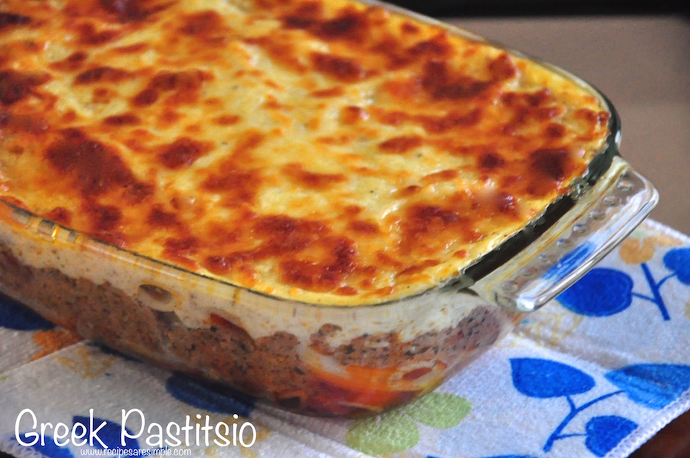 Greek Pastitsio Recipe Pasta Baked With Ground Beef And