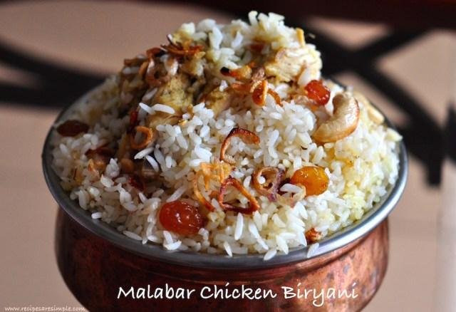 malabar chicken biryani : biriyani
