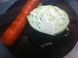 carrot and cabbage for slaw
