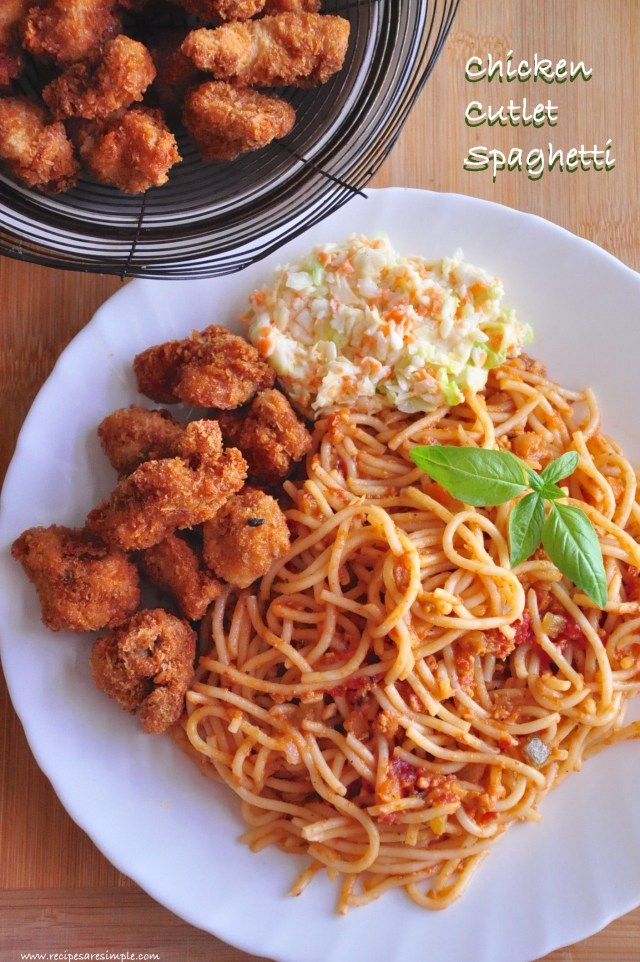 chicken cutlet spaghetti