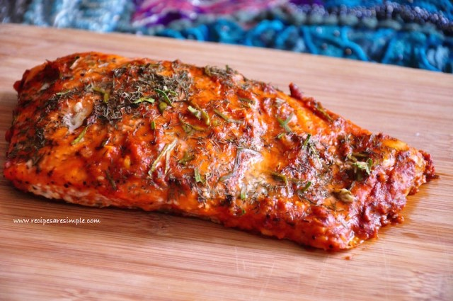 Baked Salmon with Horseradish Sauce Recipe