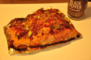 Baked Salmon with Horseradish Sauce easy