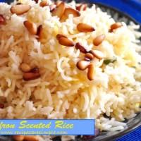 saffron scented rice recipe
