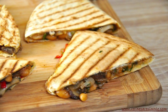 tasty vegetarian quesadillas recipe