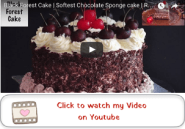 black forest cake youtube video