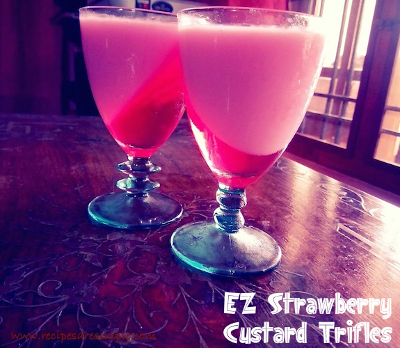 easy strawberry custard trifle recipe for kids
