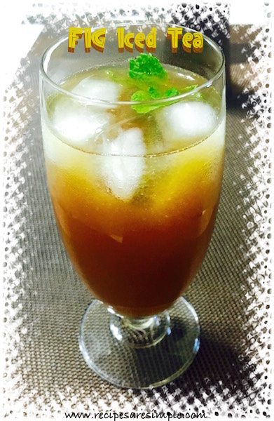 fig iced tea