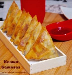 Beef keema samosa