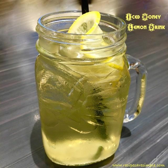 Iced Honey Lemon Drink
