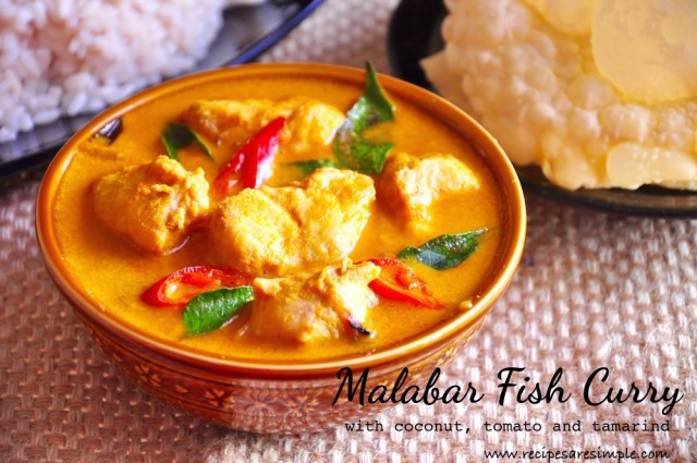 malabar fish curry with coconut tomato and tamarind