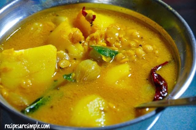 quick breakfast sambar recipe
