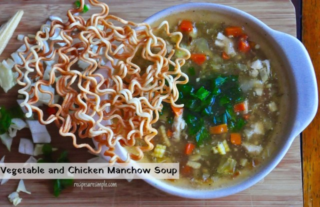 Vegetable and Chicken Manchow Soup