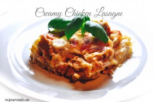 creamy chicken lasagne