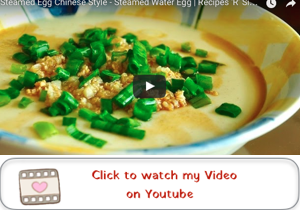 chinese style steamed egg youtube video