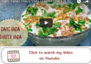 dahi vada / Thayir vada youtube video