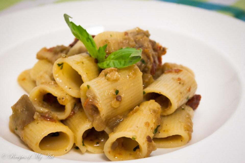 Aubergine Sundried Tomato Pasta -2