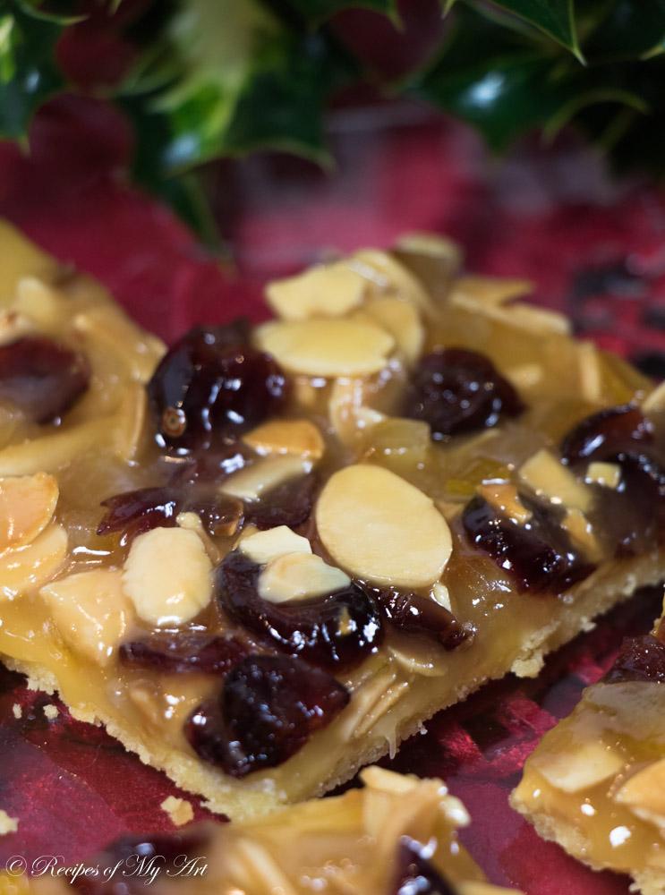 Cranberry, Orange & Almond Caramel Cookies
