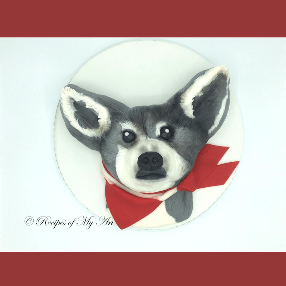 Dog Sculptured Cake