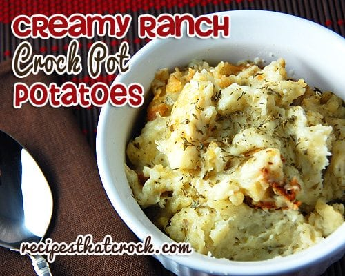 You are gonna love these simple, yet delicious Creamy Ranch Crock Pot Potatoes!