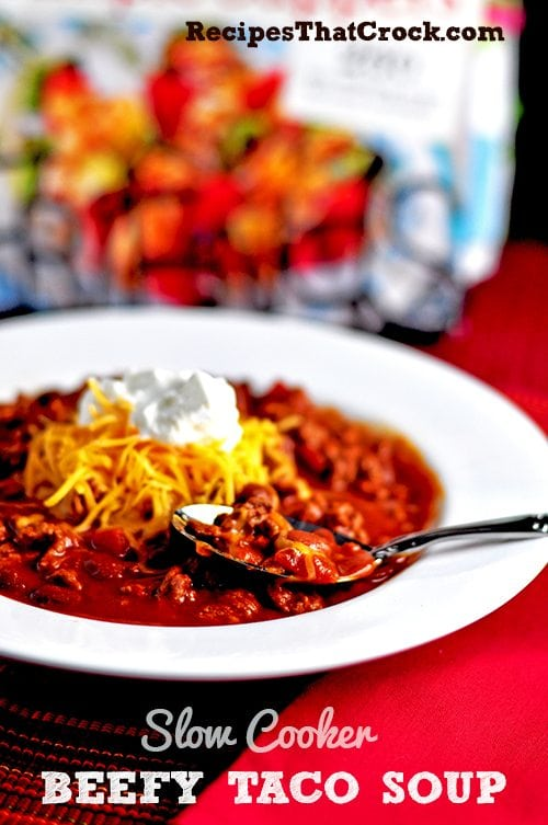 Crock Pot Beefy Taco Soup