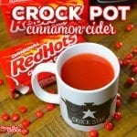 Are you looking for a warm festive drink  for the holidays? Whether you are grabbing a mug to snuggle up by the fire or serving up a ladle or two at your next Christmas party, this Easy Crock Pot Cinnamon Cider Recipe is sure to be a hit!