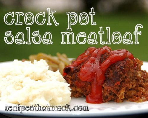 This Crock Pot Salsa Meatloaf is a delicious and simple meatloaf made right in your slow cooker.