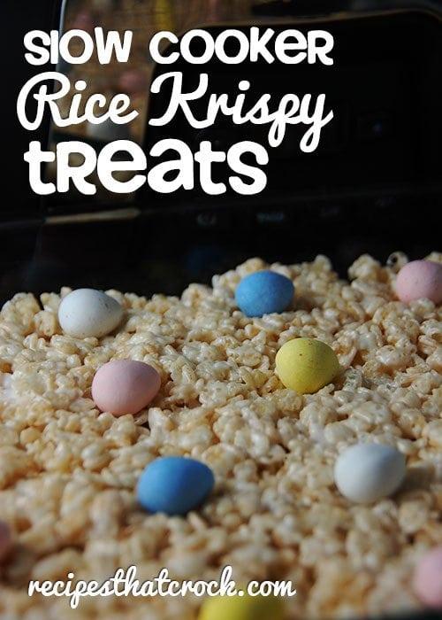 Holiday Slow Cooker Rice Krispy Treats