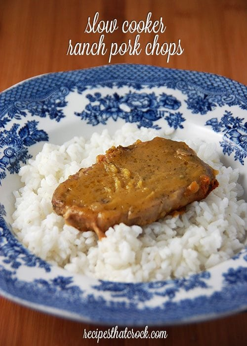 Slow Cooker Ranch Pork Chops