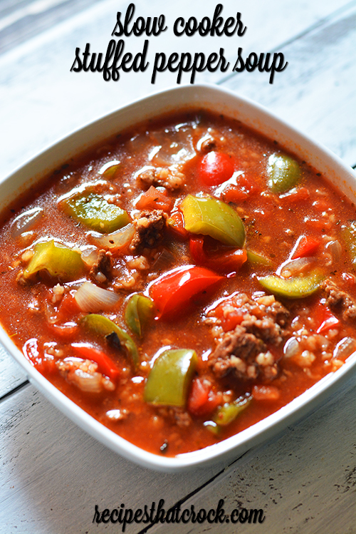 Slow cooker stuffed pepper soup recipes that crock slow cooker stuffed pepper soup is a reader favorite and one of our most popular slow forumfinder Image collections