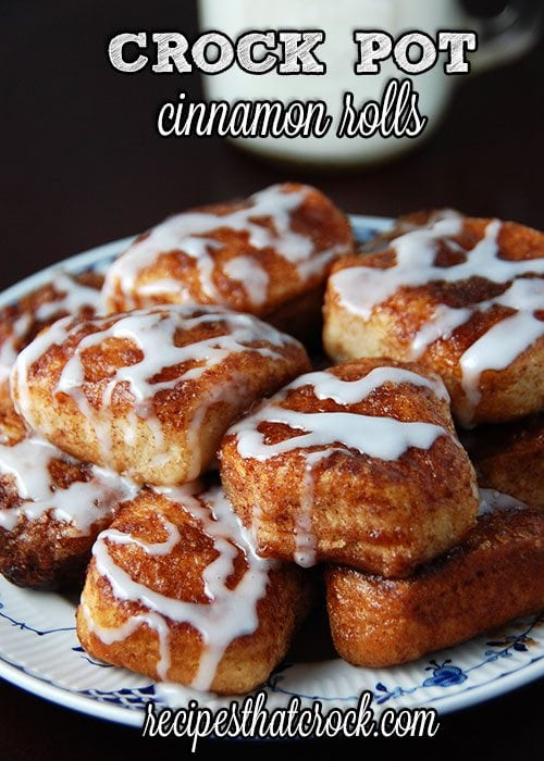 crockpot cinnamon rolls recipe