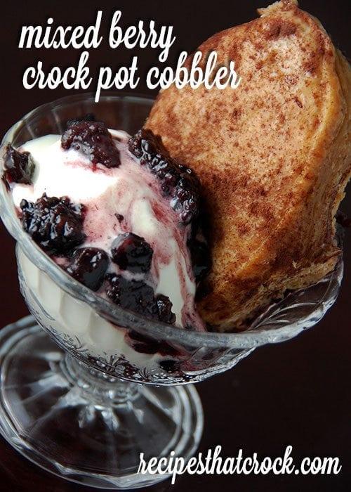 Mixed Berry Crock Pot Cobbler