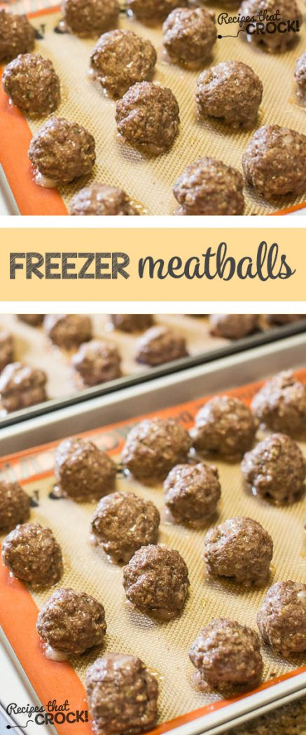 Homemade Frozen Meatballs - Perfect to add to your spaghetti or throw in your crock pot for a great appetizer. Great alternative for those that don't like store bought frozen meatballs.