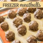 Freezer Meatballs - Perfect to add to your spaghetti or throw in your crock pot for a great appetizer. Great alternative for those that don't like store bought frozen meatballs.