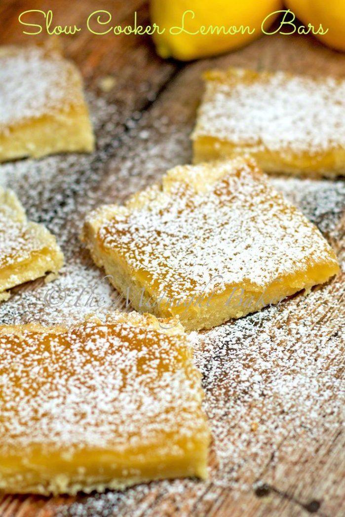 Slow Cooker Lemon Bars Midnight Baker