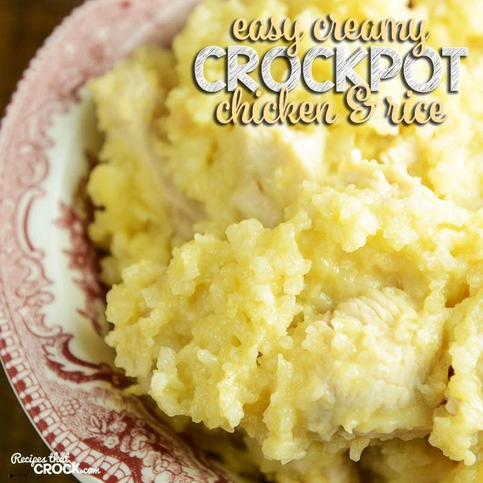 Easy Creamy Crock Pot Chicken And Rice