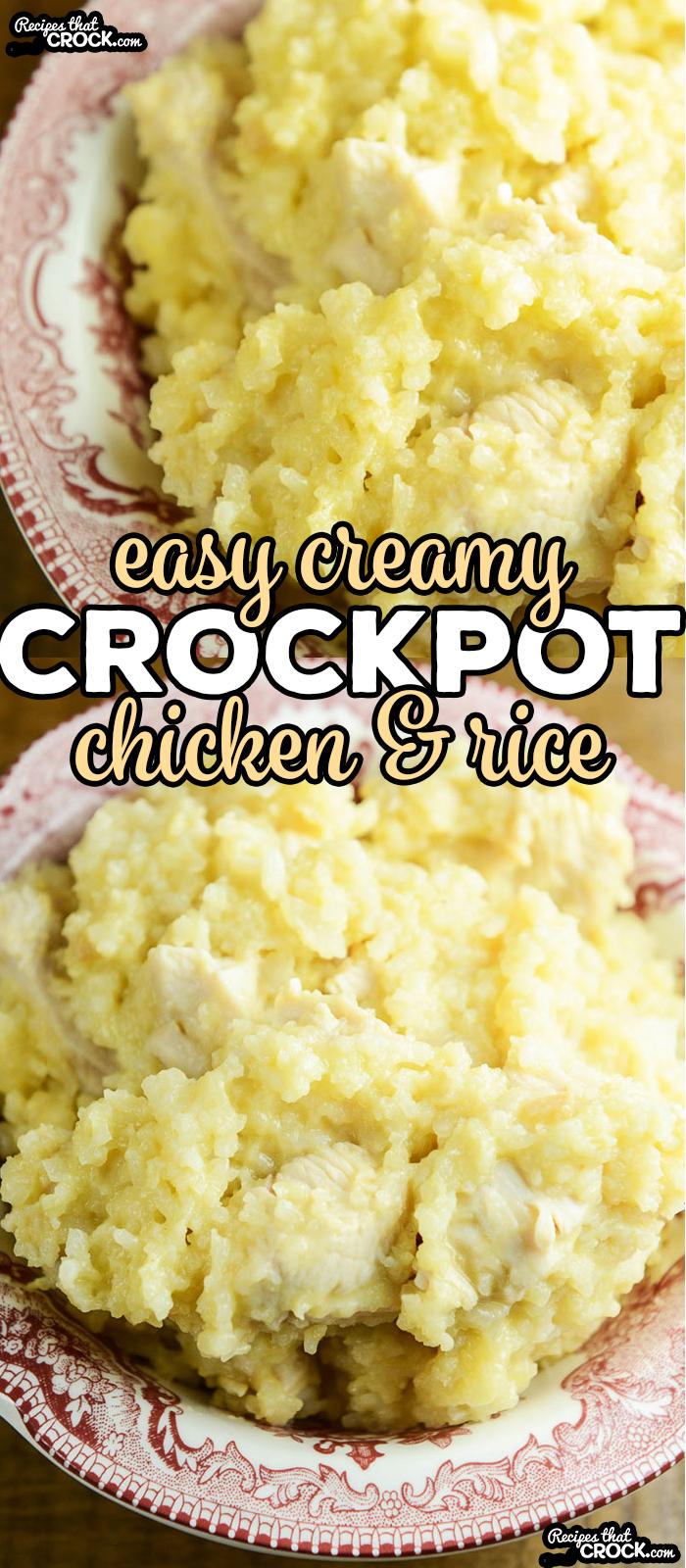 Easy Creamy Chicken Rice Casserole! So simple to throw together. via @recipescrock