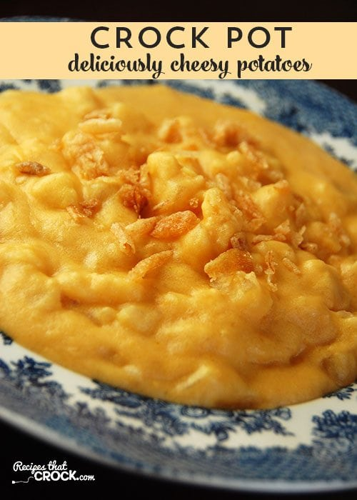 These Deliciously Cheesy Crock Pot Potatoes are delicious, cheesy and oh-so-easy!