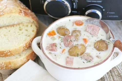 Crock Pot Potato & Ham Soup (copyright)