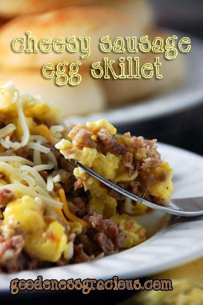 This Cheesy Sausage Egg Skillet is a long standing favorite in my house!