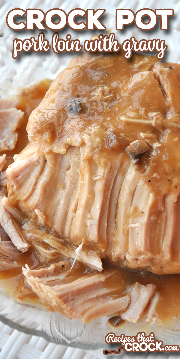 Our Crock Pot Pork Loin with Gravy Recipe is popular with readers for a reason. This super easy slow cooker recipe produces a tender pork roast with a flavorful savory gravy. Kiss dry pork roasts goodbye! via @recipescrock