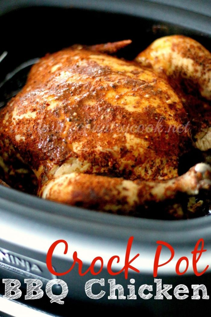 Crock Pot Whole BBQ Chicken