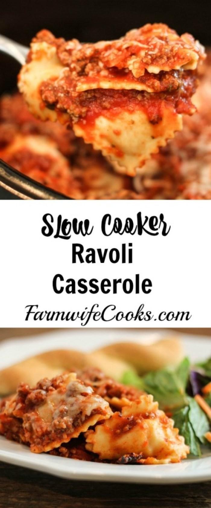 Slow Cooker Ravioli Casserole